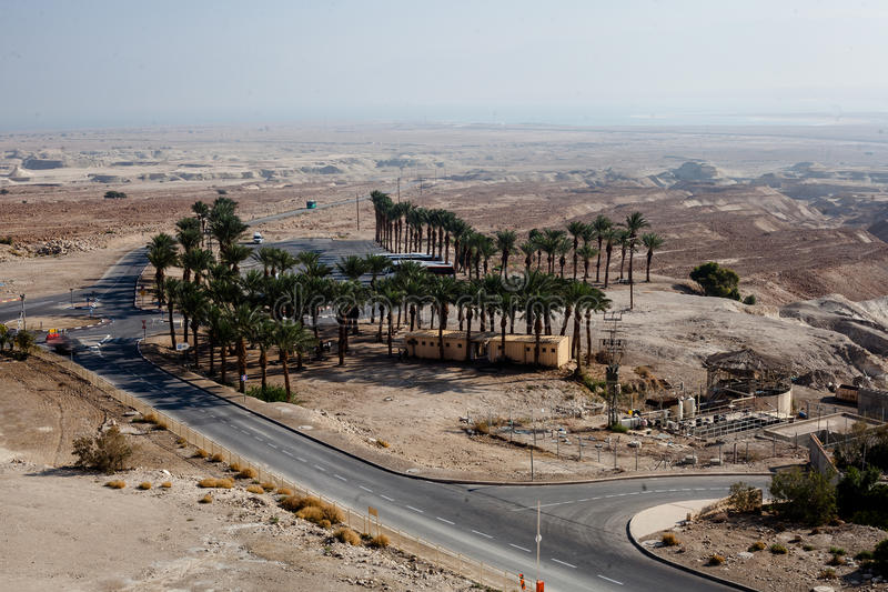 Masada fästning och slott för konung Herods i Israel fotografering för bildbyråer