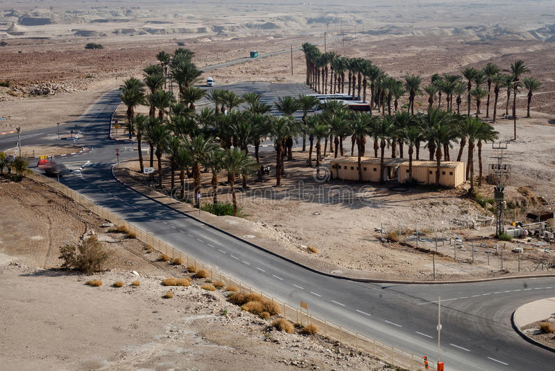 Masada Festung und Palast des Königs Herods stockbilder