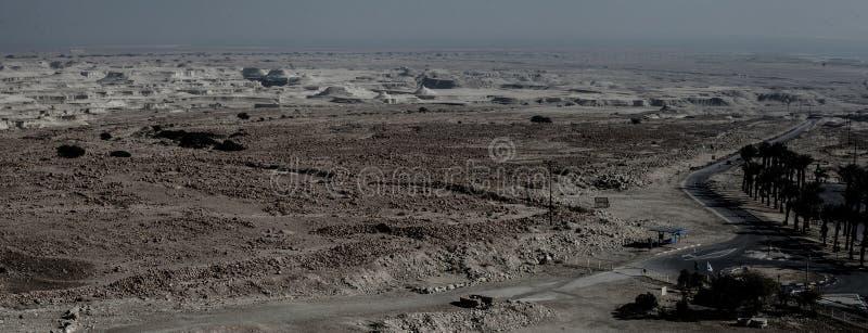Masada-Festung und Palast Königs Herods in Israel stockbilder
