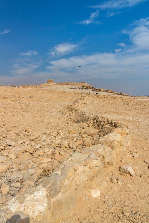 Masada forteca, park narodowy, Judea, Zachodni bank, Izrael, obraz royalty free