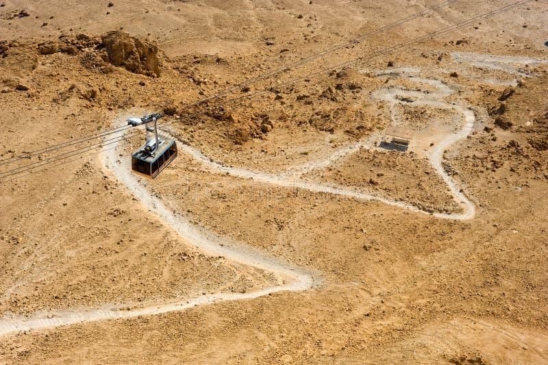 Masada i Israel royaltyfri fotografi