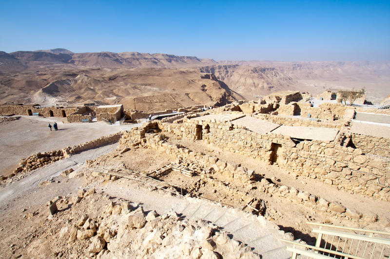 Masada - Israël royalty-vrije stock foto's