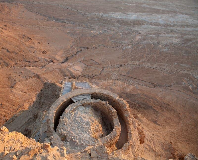 Masada Israël stock afbeelding