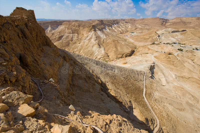 Masada in Israël royalty-vrije stock foto