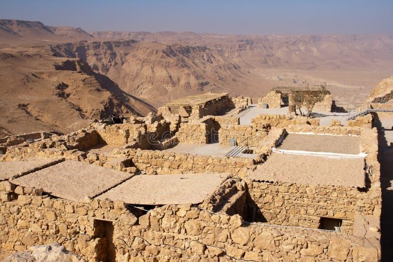 Masada Israel. Ruins of the ancient Masada fortress in Israel royalty free stock photos