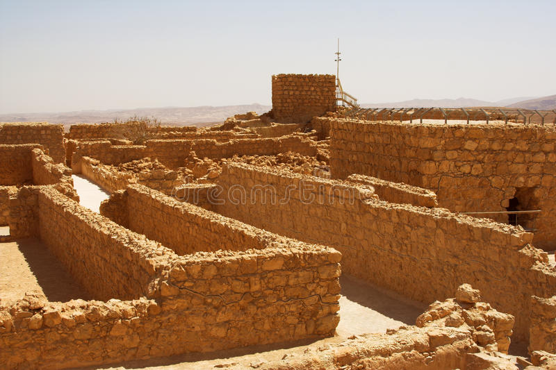 Masada, letni dzień, podróży fotografia zdjęcia stock