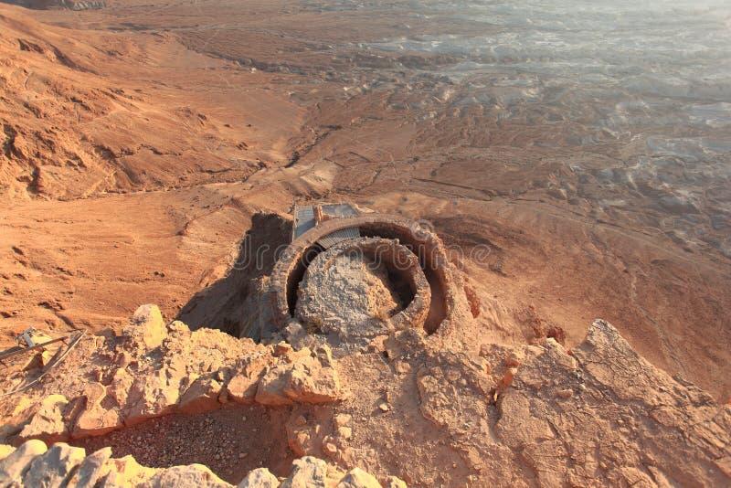 Masada Middenterras van Noordelijk Paleis stock afbeeldingen