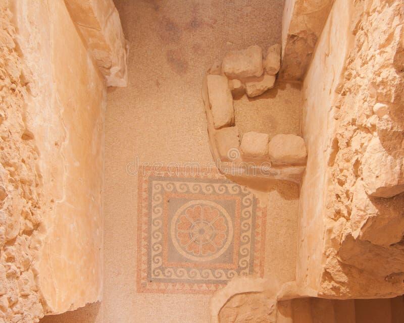Masada Mosaic Ruins royalty free stock photography