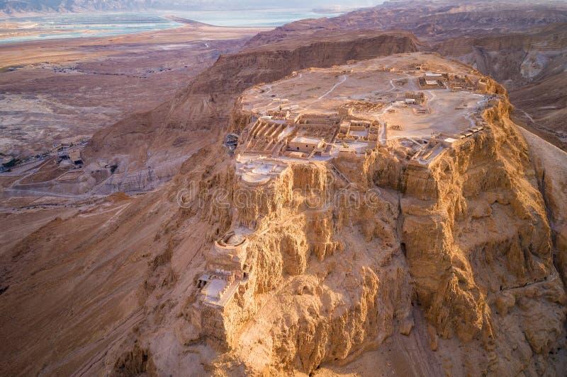 Masada Nationaal Park in het Dode Overzeese gebied van Israël royalty-vrije stock fotografie