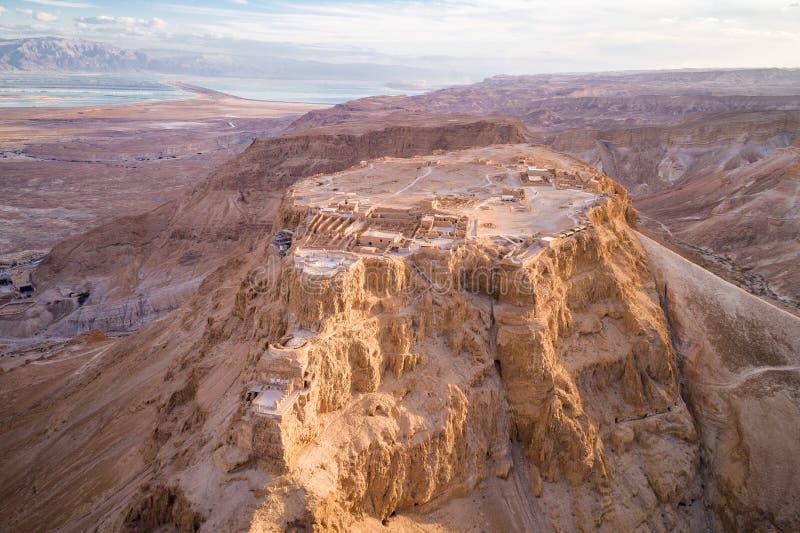 Masada Nationaal Park in het Dode Overzeese gebied van Israël royalty-vrije stock afbeelding