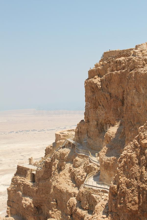 Masada Northern Palace Terraces ,Israel royalty free stock photo