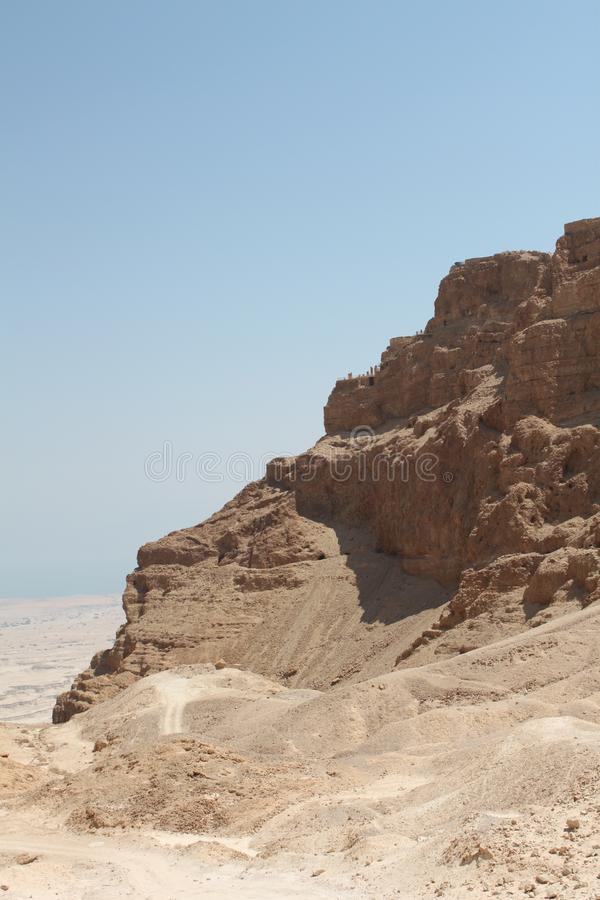 Masada Northern Palace Terraces ,Israel stock photography