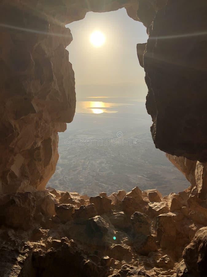 Masada-Sonnenaufgang lizenzfreie stockbilder