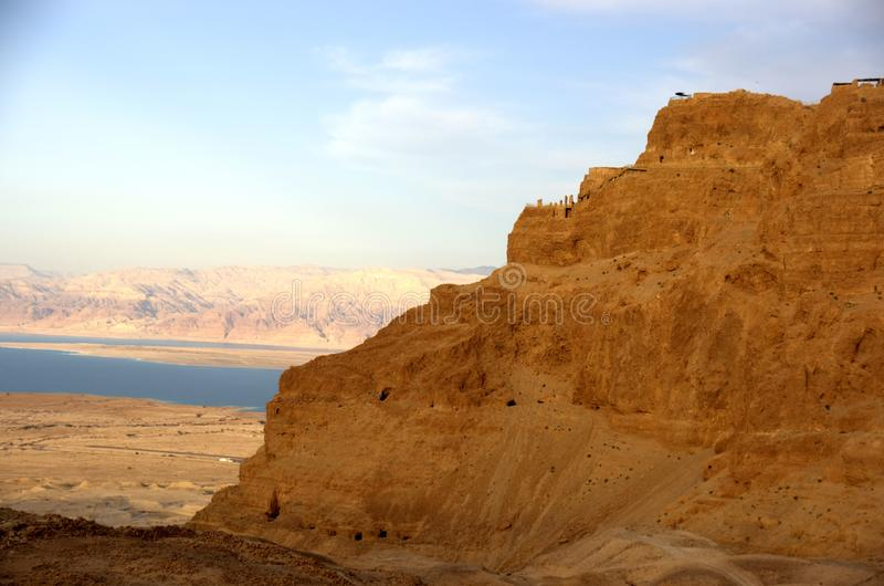 Masada y mar muerto fotos de archivo libres de regalías