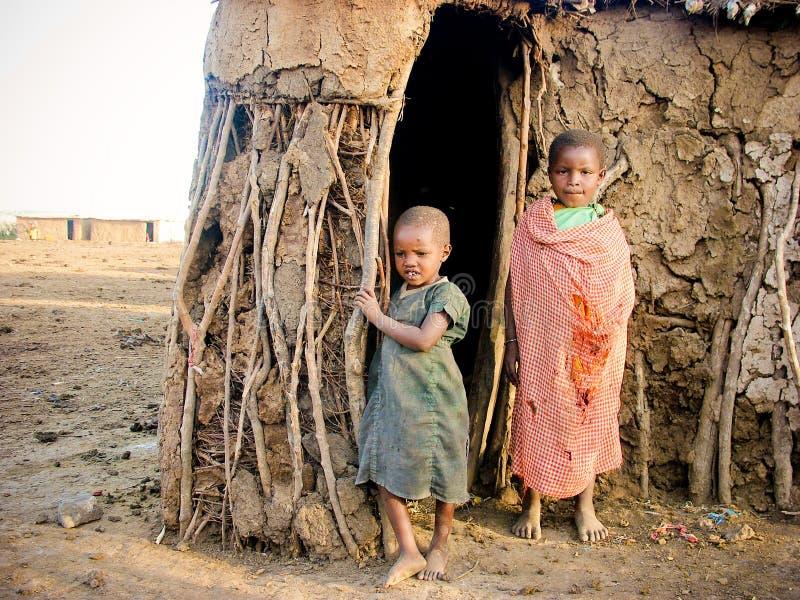 masai παιδιών στοκ εικόνες