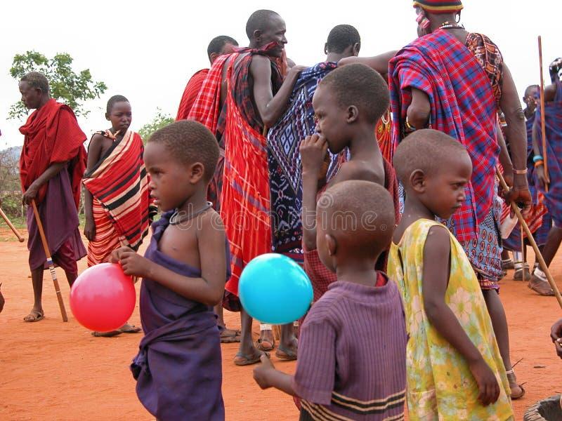 masai детей стоковые фото