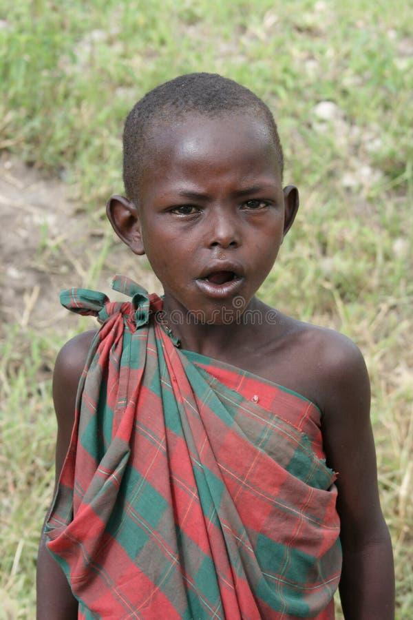 Masai das crianças do retrato de África, Mara do Masai fotos de stock royalty free