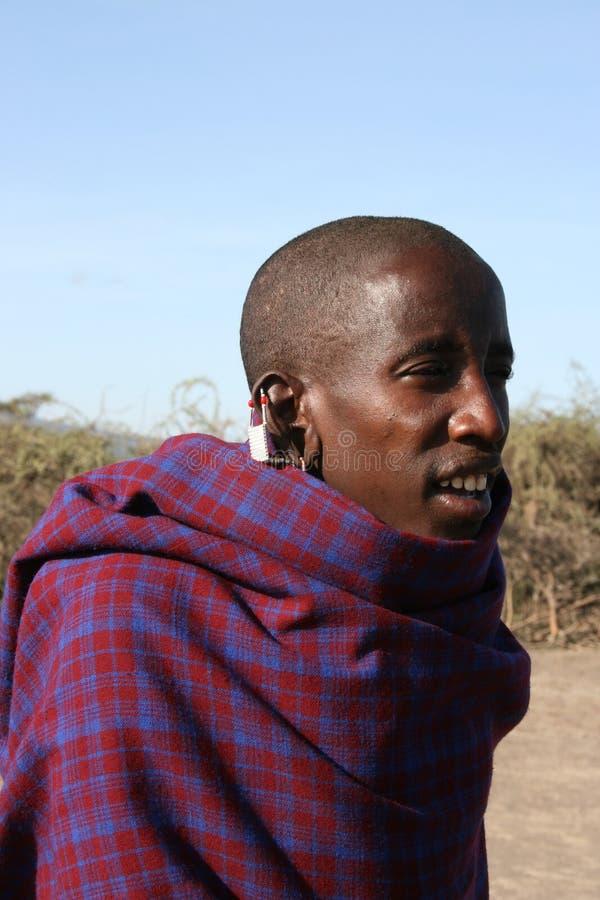 Masai do homem novo de África, Tanzânia imagens de stock