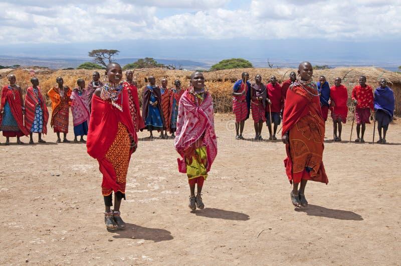 Masai-Frauen lizenzfreie stockfotografie