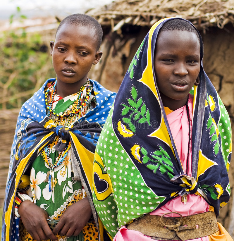Download Masai girls editorial stock image. Image of africa, family - 7119019