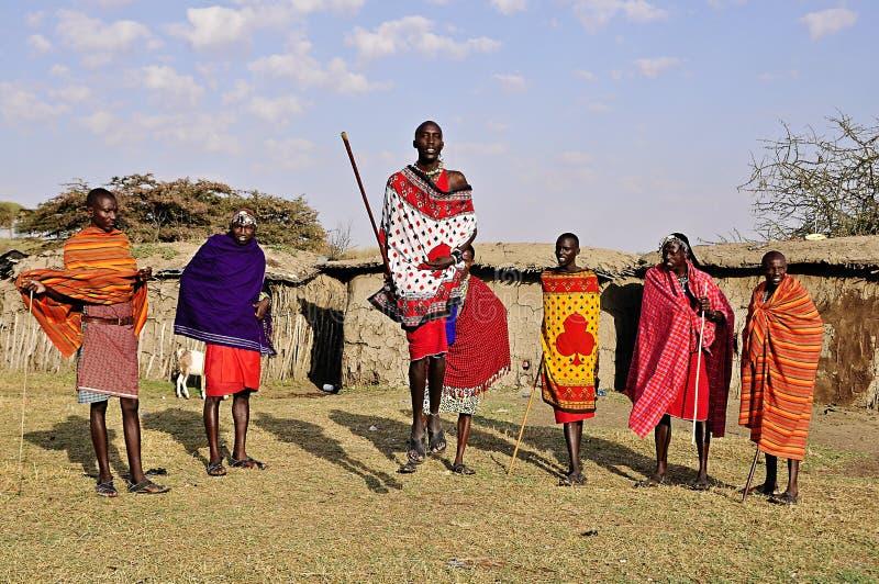 Masai i Kenya, Afrika royaltyfri foto