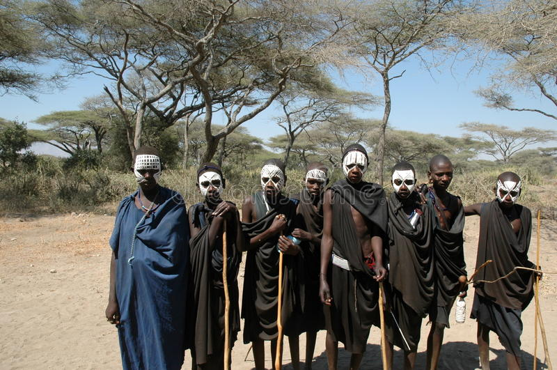 Masai life royalty free stock photography