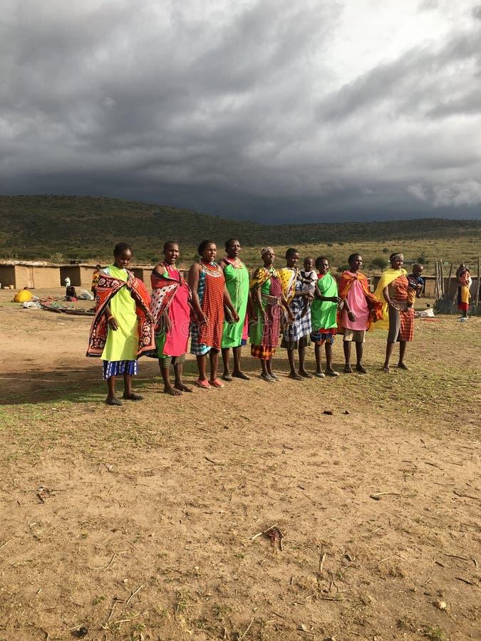 Masai Mara Village fotos de stock royalty free