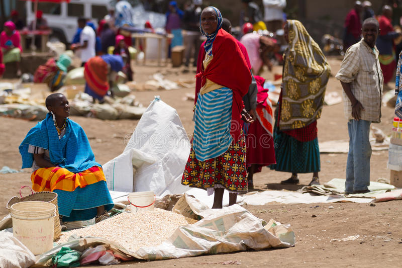 Masai market. Near the town of arusha in tanzania stock images