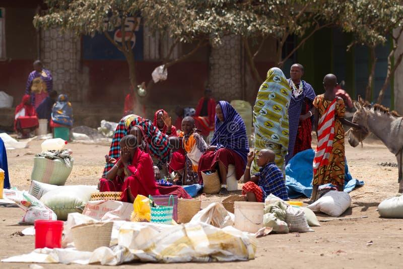 Masai market. Near the town of arusha in tanzania stock image