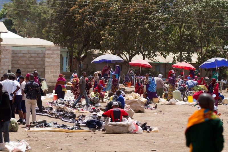 Masai market. Near the town of arusha in tanzania royalty free stock photo