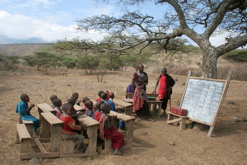 Masai-Schule stockbilder