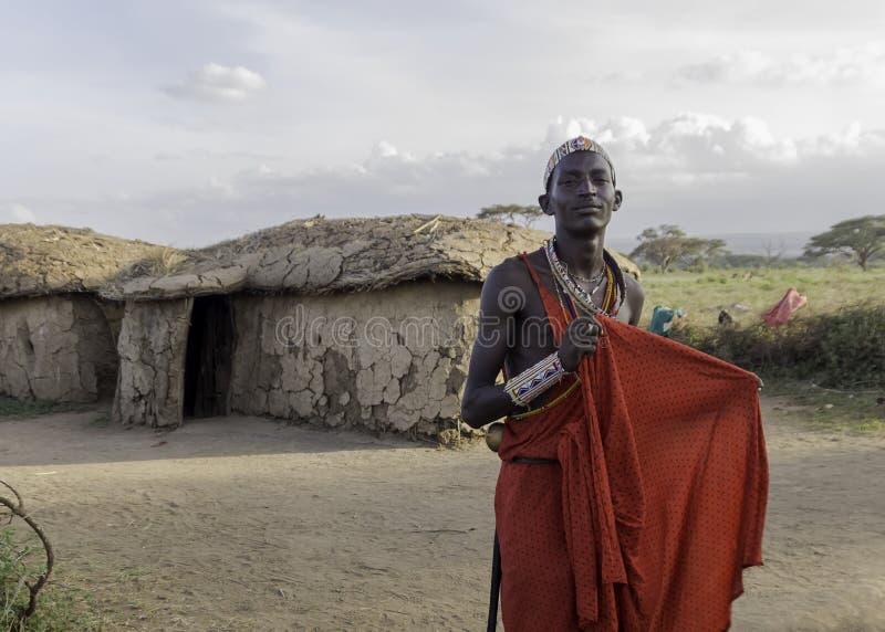 Masai wojownik zdjęcia royalty free