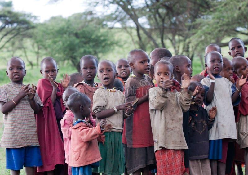 Masaischule stockbilder