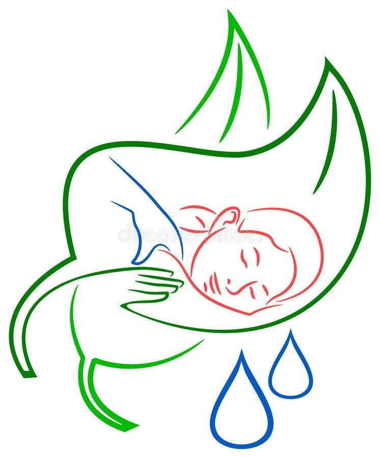Masaje ilustración del vector