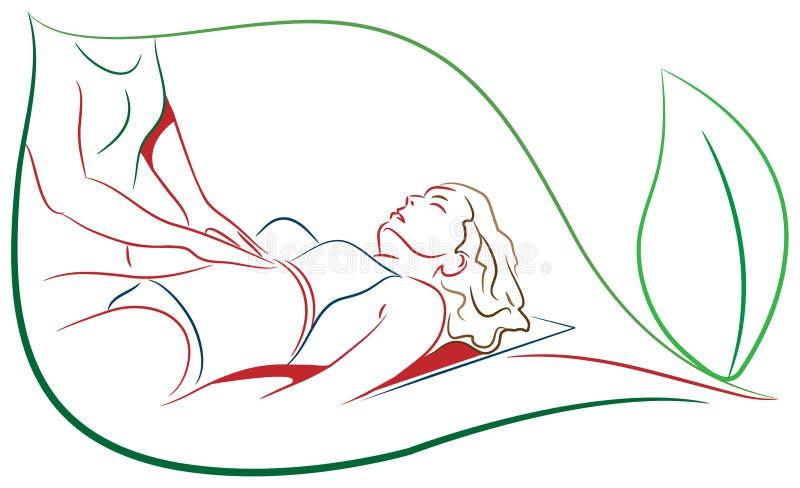 Masaje stock de ilustración
