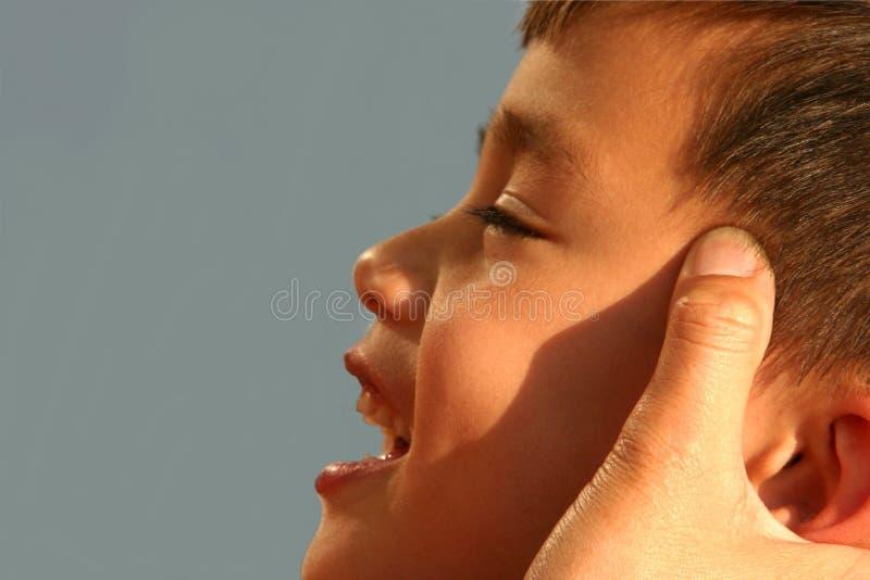 Masaje de la mama foto de archivo libre de regalías