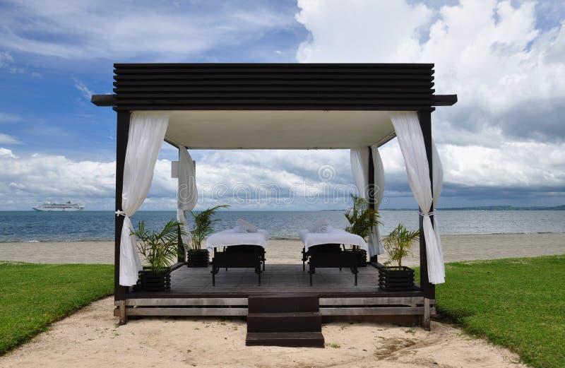 Masaje de la playa foto de archivo