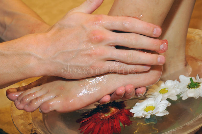 Masaje de pies fotografía de archivo libre de regalías