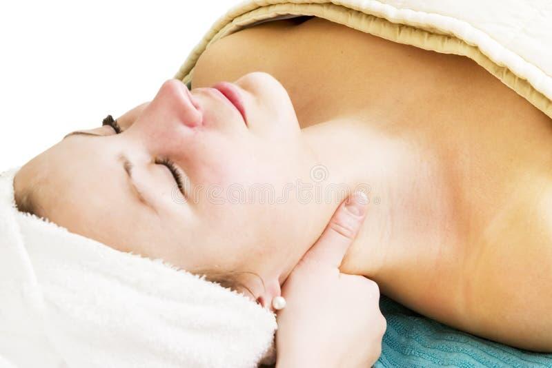 Masaje facial imagen de archivo