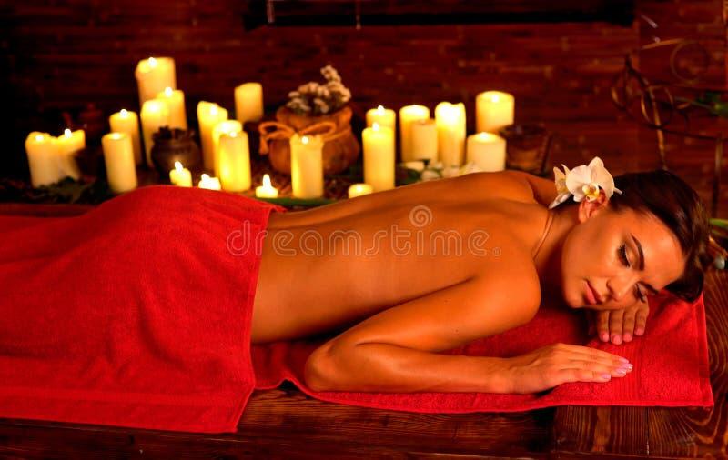 Masaje linfático del malestar anti para el cuerpo cansado foto de archivo libre de regalías