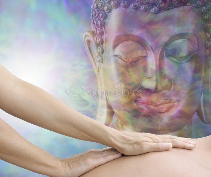 Masaje totalmente relajante del cuerpo del Mindfulness imagenes de archivo