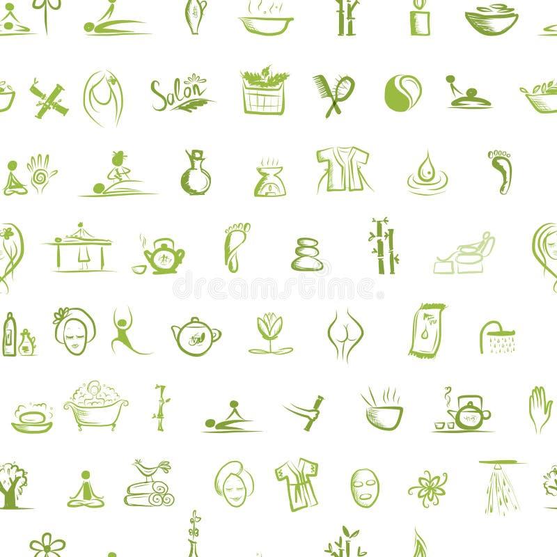 Masaje Y Concepto Del Balneario, Modelo Inconsútil Para Su Imagen de archivo libre de regalías