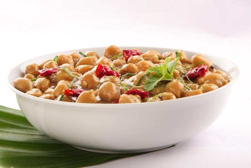 Masala épicé doux de Channa de cuisine indienne image stock