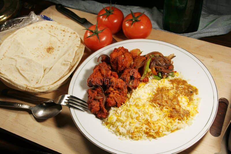 masala d'Indien de nourriture de poulet de biryani image libre de droits