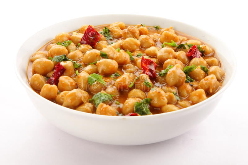Masala de Channa de cuisine indienne photos stock