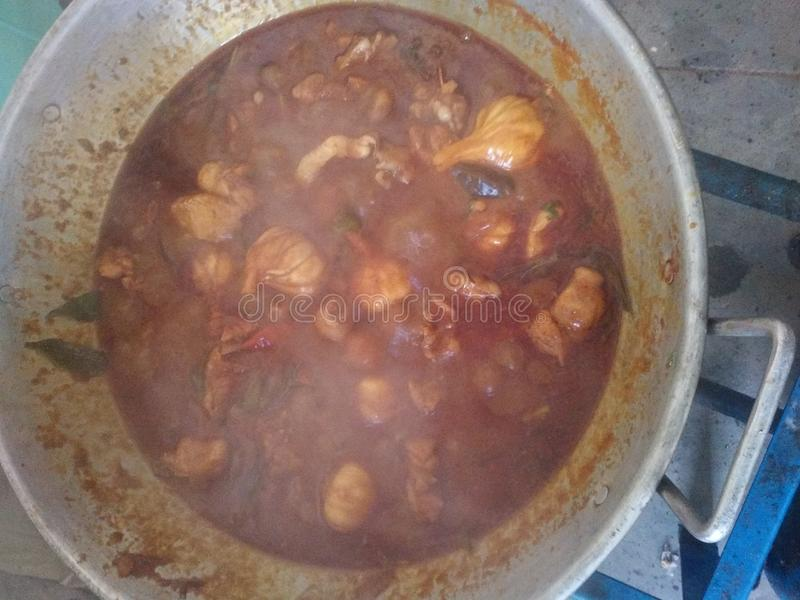 Masala de poulet et tr?s doux indiens image stock