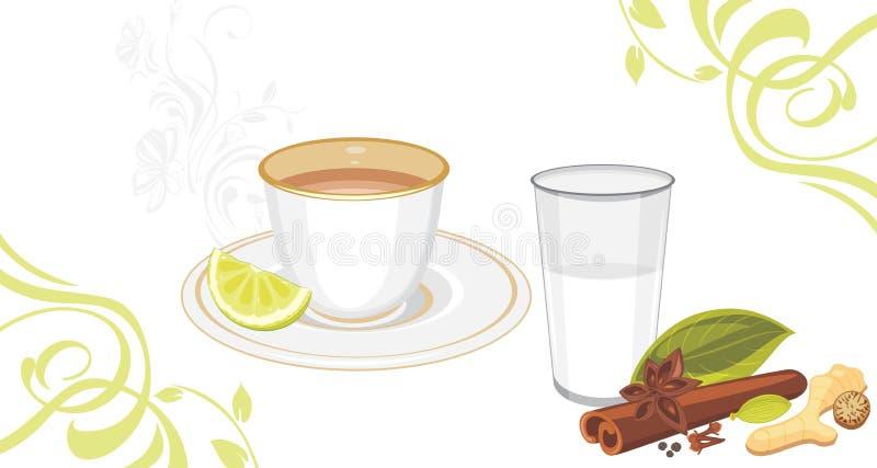 Masala herbata ilustracji