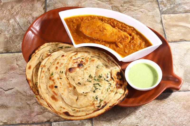 Masala Tawa Chaap ou soja Chaap, prato indiano fotografia de stock royalty free
