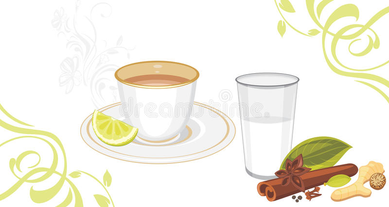 Masala tea stock image