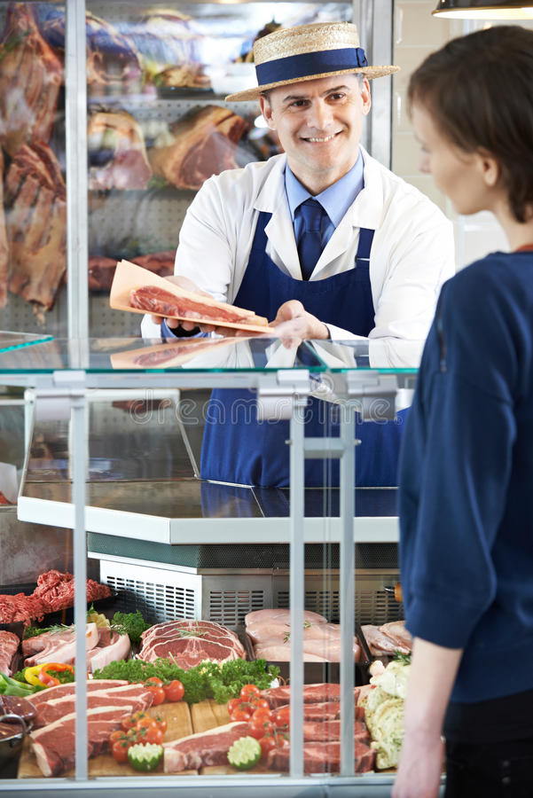 Masarki porci klient W sklepie zdjęcie royalty free